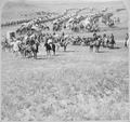 Column of cavalry, artillery, and wagons, commanded by Gen. George A. Custer, crossing the plains of Dakota Territory. B - NARA - 519427.tif