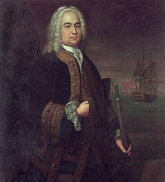 Curtis Barnett - Commodore Curtis Barnett (John Ellys, 1743)