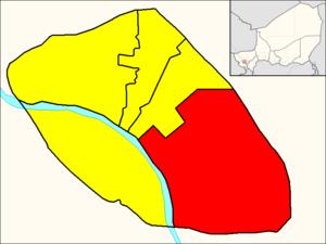 Commune IV (Niamey) - Image: Commune IV (Niamey Map)