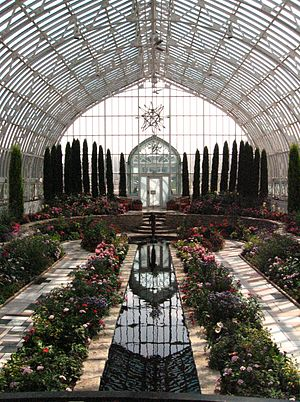 Como Park Zoo and Conservatory - The sunken garden in the Marjorie McNeely Conservatory
