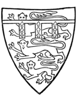 Fig. 702.—Thomas, Earl of Lancaster, d. 1322 (son of preceding): England with a label azure, each point charged with three fleurs-de-lis. (From his seal, 1301.)
