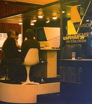 Computervision - Computervision CADDS system exhibited at a trade show in 1978.