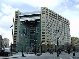 Compuware - Compuware World Headquarters, One Campus Martius, Campus Martius Park, in Downtown Detroit