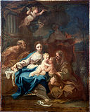 Conca, Sebastiano - Holy Family with St Anne, the Baptist and Zacharias - Google Art Project.jpg