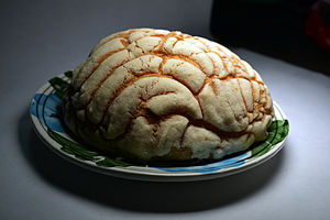 Pan dulce - A concha sweet bread bought in Mexico City