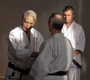 Hidetaka Nishiyama - Nishiyama at a karate seminar in 2006