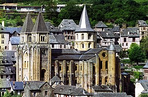 Abbey Church of Saint Foy - The Sainte-Foy abbey-church in Conques