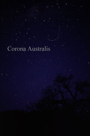Corona Australis - The constellation Corona Australis as it can be seen by the naked eye.