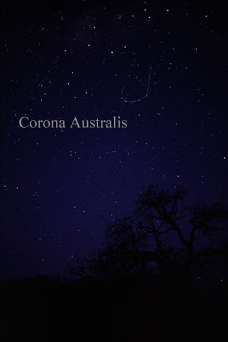 Corona Australis - The constellation Corona Australis as it can be seen by the naked eye