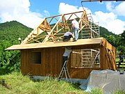 Construction maison bambou