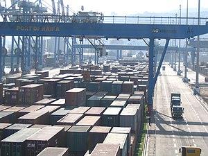 Port of Haifa - Containers in the Port of Haifa.