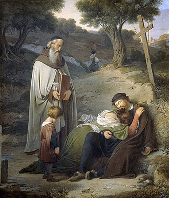 Albert Küchler - Correggio's Death (1834)