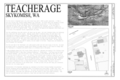 Cover sheet with vicinity map, site plan, and historical notes - Teacherage, 117Sixth Street North, Skykomish, King County, WA HABS WA-242 (sheet 1 of 4).png