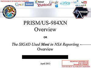 PRISM (surveillance program) - Image: Cover slide of PRISM
