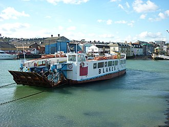 Cowes Floating Bridge - Floating Bridge No 5, taken out of service in 2017.