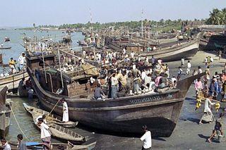 Country boats in Bangladesh