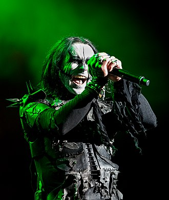 Cradle of Filth - Dani Filth performing in 2015
