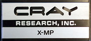 Cray X-MP - Image: Cray XM P ID logo