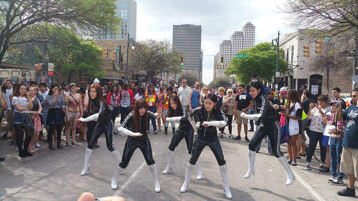 Crayon Pop filming at SXSW Austin Texas 2015.jpg