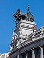 Cuadriga del edificio del Banco de Bilbao, calle de Alcalá, Madrid, España, 2017-05-18, DD 06.jpg