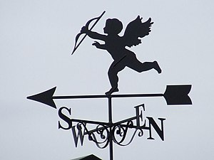 Cupid Cupid weather vane Pentlow, Essex.