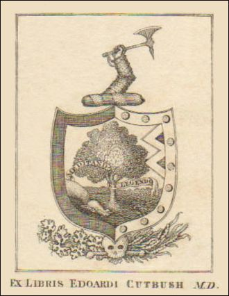 Edward Cutbush - Bookplate of Cutbush medical book - 1808