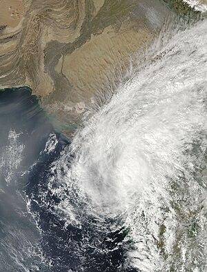 Cyclone Phyan - Image: Cyclone Phyan western India