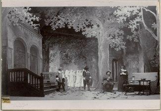 Cyrano de Bergerac, Dramatiska teatern 1901. Föreställningsbild - SMV - H12 026.tif