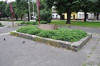 Częstochowa - plaque near cathedral 02.jpg