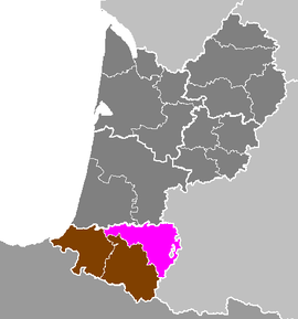 Location o Pau in Aquitaine