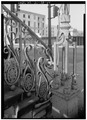DETAILED VIEW OF WEST (FRONT) IRON RAILING - Market Hall, 188 Meeting Street, Charleston, Charleston County, SC HABS SC,10-CHAR,6-44.tif