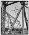 DETAIL OF ELECTRICAL LINE ATTACHMENT ON TOWN CREEK SPAN, FACING WEST - Grace Memorial Bridge, U.S. Highway 17 spanning Cooper River and Town Creek , Charleston, Charleston County, SC HAER SC-32-2.tif