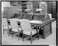 DETAIL OF READING DESK IN NINTH FLOOR LAW LIBRARY - U. S. Courthouse, 1010 Fifth Avenue, Seattle, King County, WA HABS WASH,17-SEAT,6-25.tif