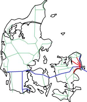 kart over sjælland danmark Jernbane i Danmark – Wikipedia kart over sjælland danmark