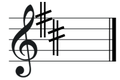 D major key signature on treble clef.png