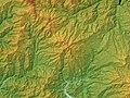 Dainichigatake Relief Map, SRTM-1.jpg
