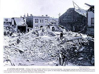 Tornado outbreak sequence of May 1896 - Damage from the St. Louis-East St. Louis Tornado.