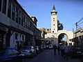 Damaskus, Römischer Bogen Bab al-Kanise in der Geraden Strasse trennt islamische und christliche Altstadtviertel (38651264216).jpg