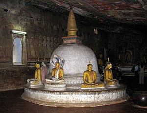 Ancient constructions of Sri Lanka - Buddha statues in Dambulla Rock Temple