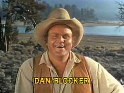 Dan Blocker Hoss Cartwrightina Bonanzassa.