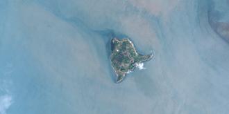 Dauan Island - Aerial view of Dauan Island, 2011