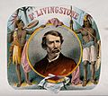 David Livingstone, head and shoulders, in a roundel; two Afr Wellcome V0018868.jpg