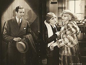 David Manners, Madge Evans et Ina Claire dans The Greeks Had a Word for Them.