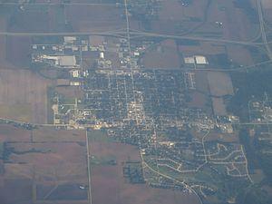 DeWitt, Iowa - Aerial view of DeWitt