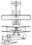 De Havilland Moth float plane 3-view Aero Digest January,1930.png