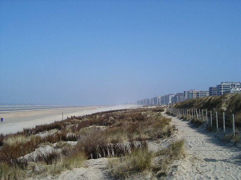 Fichier:De Panne Dunes et plage.jpg