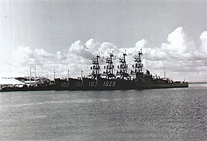 Dealey-class destroyer escorts at Guantanamo Bay, in 1961