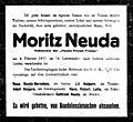 Death notice Moritz Neuda, Vienna, 1917.jpg