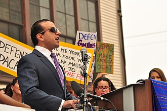 Habib addressing Defend DACA rally, Seattle, September 5, 2017 Defend DACA rally - Seattle - September 5, 2017 - 19 - Cyrus Habib.jpg