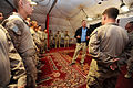 Defense.gov News Photo 101028-D-7203C-055 - Deputy Secretary of Defense William J. Lynn III speaks with Marines assigned to Task Force 33 in Nawa, Afghanistan, on Oct. 28, 2010.jpg